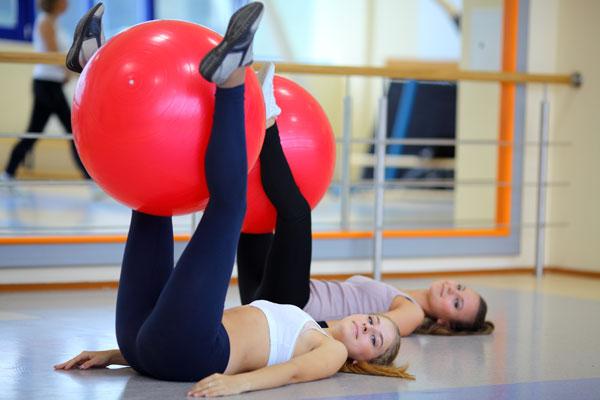 chevron island physio -  pilates ball
